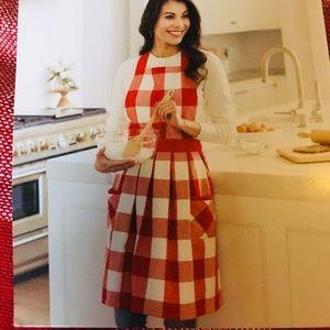 NWT red plaid apron